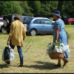 Happy shoppers at the Yarlington Plant Fair